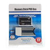 8GB Memory Stick PRO Duo-Speicherkarte und Memory Stick Duo-Adapter