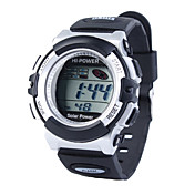 Solar Powered Waterproof EL Digital Automatic Stopwatch Sport Wrist watch