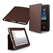 Custodia in pelle PU 2-in-1 + supporto per iPad - Marrone