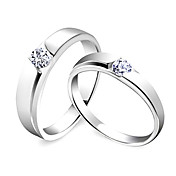 Amazing 925 Sterling Silver His &amp; Hers Rings (Set of 2)