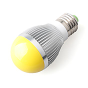 E27 3W Yellow Light LED Ball Bulb