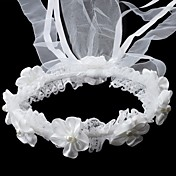 Satin/Lace With Imitation Pearl Wedding Flower Girl Headwreath