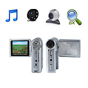 "HD 1280 * 720 @ 30fps 5MP 8xdigital zoom videocamera digitale con 2.4 ""schermo lcd mp3 tv telecamera pc Funzione (HD-569)"