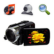 5MP CMOS con zoom digitale 8x videocamera digitale con 3.0 pollici TFT LCD screen mp3 funzione PC Camera (hd-868)