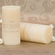 Vanilla Scented Ivory Pillar Candle