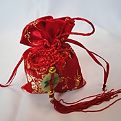 Chinese Style Favor Bag With Chinese Knot (Set of 12)