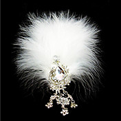 Gorgeous Feather With Rhinestones Bridal Headpiece