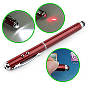 3-in-1 touchscreen stilo + puntatore laser rosso + torcia led per iPad, iPhone, P1000 e playbook (rosso)