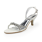 Leatherette Upper Low Heel Sandals With Rhinestone Wedding Shoes More Colors Available