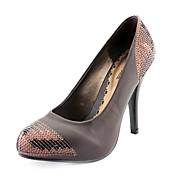 Leatherette Upper Stiletto Heel Closed Toe With Sequin Bridal Party Shoes.More Colors Available
