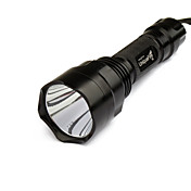UniqueFire T6 5-Mode CREE XM-L T6 LED Flashlight (1000LM, 1x18650, Black)