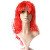Capless Long 100% Kasi Fiber Light Red Costume Party Wig