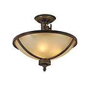 Elegant Semi Flush Mount in Warm Light