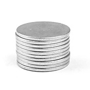 super forte de terras raras ímãs re (15mm x 1mm / 10-pack)