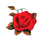 5 Piece Rose Waterproof Temporary Tattoo(6m*6cm)