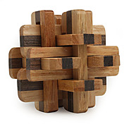 Wooden IQ Brain Teasr 12-piece Lock IQ Puzzle Magic Cube
