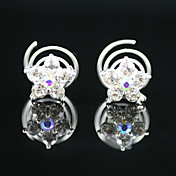 2 stk lekre rhinestones brude pins fest headpieces