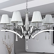 Elegant Chandelier with 8 Lights - Crystal Drops Decorated