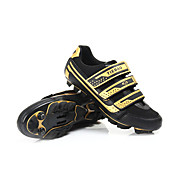 Cycling MTB SPD Shoes With Fiberglass Sole And PVC Leather Upper Can Compatibility SPD Look SPD-R SPD-SL