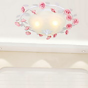 Warm White Ceiling Light with 3 Lights in Rose Decorration
