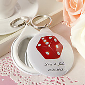 Personalized Mirror Key Ring - More Designs Available (Set of 12)