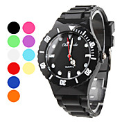 Plastic Band Quartz Wrist Watch