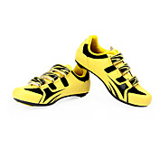 Cycling Road SPD Shoes With Fiberglass Sole And PVC Leather Upper