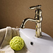 Classic Ti-PVD Finish Solid Brass Bathroom Sink Faucet