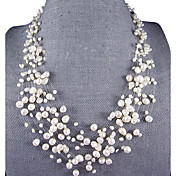 15 Strand 4-8MM Pearl Necklace – 18-22.5 Inch