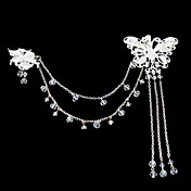 nydelig rhinestone / akryl brude headpiece