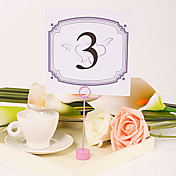 Square Table Number Card – Interlocking Hearts (Set of 10)
