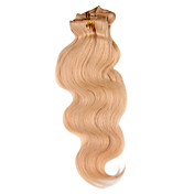 15 Inch 9 Pcs 100% Human Hair Body Wave Clips In Hair Extensions 11 Colors Available