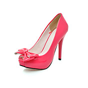 Patent Leather High Heel Peep Toe Pumps With Bow (More Colors)
