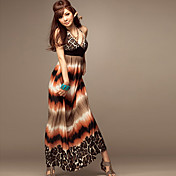 Halter/V-neck Chiffon Maxi Dress (More Colors)