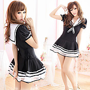 Party Princess Black Polyester Sailor Suit