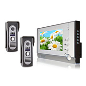 Two Waterproof Camera with 7 Inch Color TFT LCD Video Door Phone Intercom System