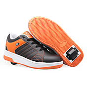Middle wheel single roller shoes(Black,Orange)
