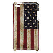 Retro beskyttende hård cover til iPod Touch 4 (US Flag og Avis)