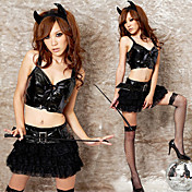 Evil Series Lace Skirt Polyester Sexy Costume (3 Pieces)
