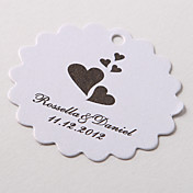 Personalized Scalloped Favor Tag – Flying Hearts (Set of 60)