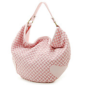 Trendy Ladies' Braided PU Shoulder Bag