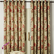 (Two Panels) Classic Jacquard Energy Saving Curtains