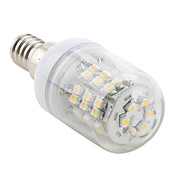 E14 48x3528 SMD 3W 150LM 2800-3200K Warm White Light LED Corn Bulb (230V)