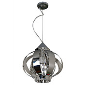 moderne kristallen hanglamp met 1 licht