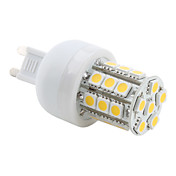 G9 27x5050 SMD 3.5W 300LM 2800-3200K Warm White Light LED Corn Bulb (230V)