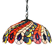 MONTARGIS - Kroonluchter Tiffany Stijl met 2 Lampen