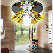 1 - Light Cystal Ceiling light in Floral Feature