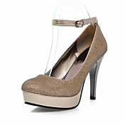 Leatherette Stiletto Platform Pumps With Buckle/Sparkling Glitter(More Colors)