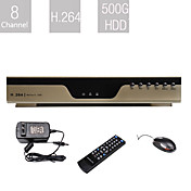 Entry-Level 8 Channel DVR (500G HDD, H.264 Compression, Network)