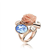 Exquisite Austria Crystal Ring In Rose Gold Plated Alloy (More Colors)
